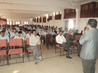 Prof. Naresh Muley conducting seminar on Personality Development Awareness Program in Everest Engineering college