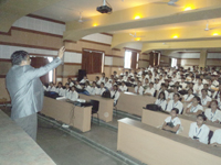 Prof. Naresh Muley conducting seminar on Personality Development Awareness Program in MGM's JNEC College