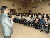 Prof. Naresh Muley conducting seminar on Personality Development Awareness Program in Government Engineering College